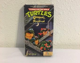 Teenage Mutant Ninja Turtles, VHS Tape, Vintage Video Tape