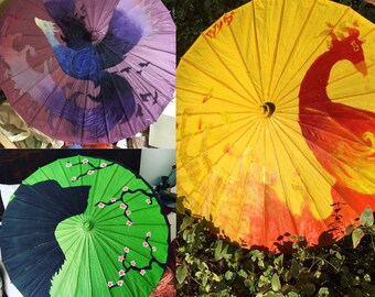 Hand Painted Parasol Custom Design