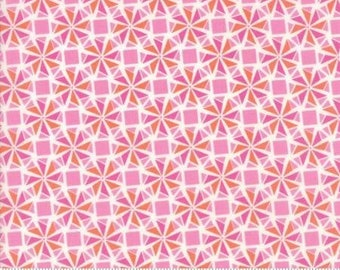 Early Bird by Kate Spain for Moda - Floral - Whirlaway - Pink - 1/2 Yard Cotton Quilt Fabric