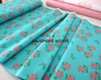 Dot Floral (Turquoise) - Maribel - Annabel Wrigley - Windham Fabrics - 1 Yard
