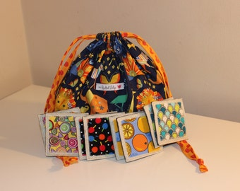 Memory Matching Game + Pouch - Neutral Theme - 24 pairs - Great for Kids & Adults - Ready to Ship