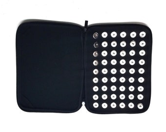 Candy Snap Binder Storage-- Holds 54 - 18MM Snaps Black Limited Availability