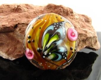 la mar de bonita - lampworkbead, butterfly focalbead