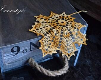 Crochet Leaf Napkins Cup coasters Wedding coasters Crochet Coasters Lace Coasters Crochet Doilies Beige Coasters Crochet Placemats
