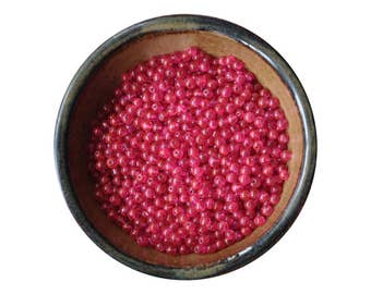 Shop Closing Sale! 300 Pieces 5mm Hot Pink Glass Round Beads