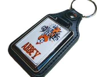 Custom Key Chain OSU Key Chain Cowboys Key Chain Personalized Keychain Accessories Key Ring Graduation Gift