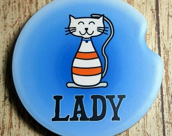 Car Coaster Cat Lady Car Cup Holder Coaster Car Accessories