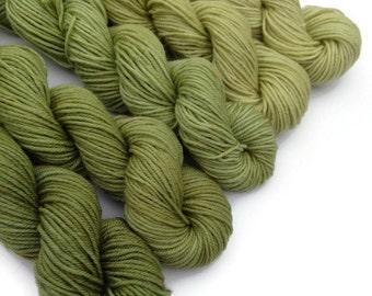 Washable Mini Skeins, Mini Skein Set, Mini Skein Yarn Sets, Gradient Set, Gradient Sock Set, Luxury Yarn, Superwash Yarn, Green Yarn
