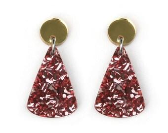 Moon Mountain Earrings - Pink