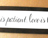 Love patient love is kind primitive country inspirational wall art decor sign