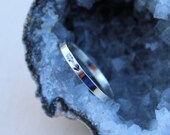 Custom arrow stamped sterling silver ring - Size 9
