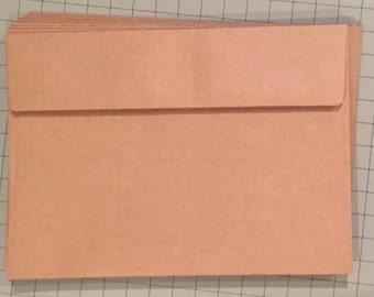 Craft Paper Envelopes for Gender Reveal Scratch Off Cards