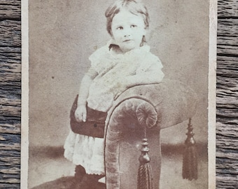 Original Antique CDV Photograph Sweetheart