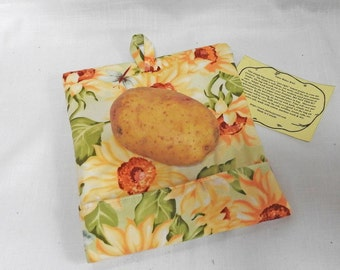 Tater (Potato) Baker Bags - Microwave Potato Bags - Sun Flowers