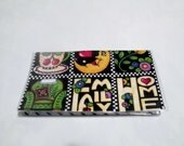 Checkbook cover rare out of print Mary Engelbreit vintage fabric family home friends scotty dog cherries half moon