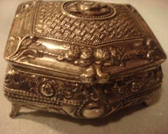Vintage Silver Jewelry Box
