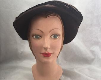 Brown felt 1930s hat