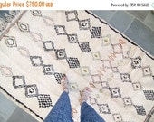 ON SALE Vintage Moroccan Azilal Berber Carpet Tribal Rug Wool - FREE Domestic Shipping
