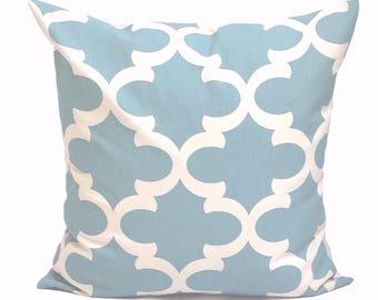 BLUE PILLOW Sale.14x14 inch.Decorative Pillow Cover.Blue Cushion Cover.Spa Blue Pillow.Tile.Pillow Coordinates.Blue Fabric.Housewa