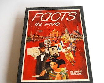 Vintage Game, Facts in Five, 3M Bookshelf Game