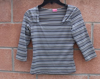"Stripe top 28"" bust in shades of brown"