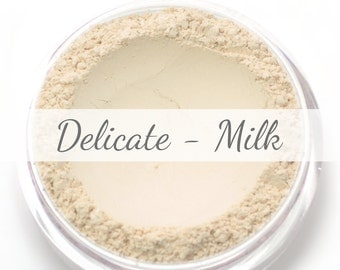 "Vegan Mineral Foundation Sample - Delicate Formula ""Milk"" - very light/pale shade with a neutral undertone"