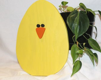 SALE!!!  Easter Chick - wood block, home decor, spring decor, Easter