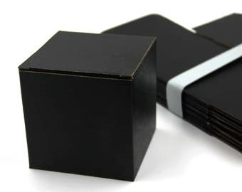 Set of 20, Black Larger Gift Box, Cube, Good for any occasion