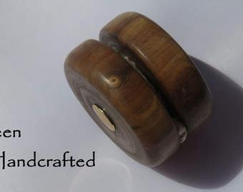 b - Keen Handcrafted Handmade Louisiana Walnut 24kt Gold Ball Bearing Yo-Yo