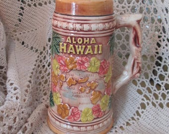 Vintage Hawaii Aloha  Beer Stein