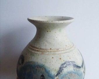ON SALE Danish Vintage Retro Vase 1970's Pottery Ceramic Ceramics