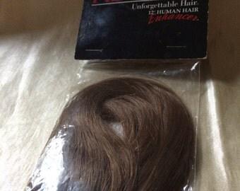 "Revlon Unfogettable Hair / 12"" Human Hair Enhancer / Hair Extension / Doll Hair / Light Brown  100% Hair Swatch"