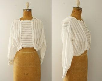 antique blouse | vintage 1910s white cotton top