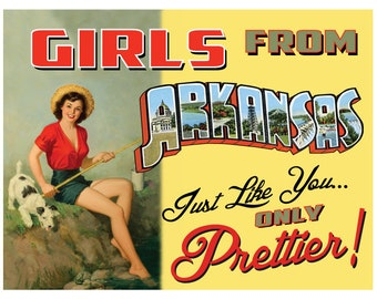 Arkansas Pin Up Girl Print Girls from Arkansas