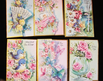 1960s Greeting Cards All Occasion Cards Boxed Set 21 Cards Get Well Cards, Birthday Cards