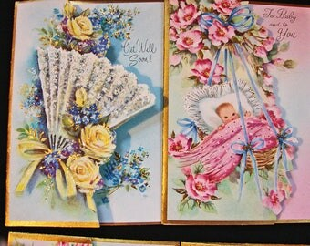 60s All Occasion Greeting Cards Set, 21 Cards, Boxed Greeting Cards with Envelopes, Get Well, Happy Birtdhay Unused Cards