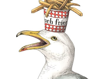 "Gull + Fries - ""On my Mind"" - Archival Print"