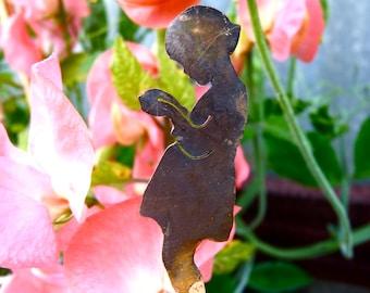 Brass Girl with Secret Garden Decoration