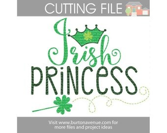 Irish Princess cut file for Cricut, Silhouette, Instant Download (eps, svg, gsd, dxf, ai, jpg, and png)