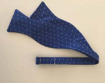 Men and Teen's Blue Chambray Polka Dot Bow Tie
