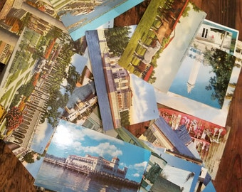 Vintage 1950's 1960's 1970's Sarasota Florida Postcards Souvenir hand colored