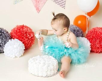 Aqua Tutu, TUTU ONLY, Newborn Tutu, Baby Tutu, 1st Birthday Tutu, Birthday Tutu, Newborn Tutu, Photography Prop, Tutu's for Childre