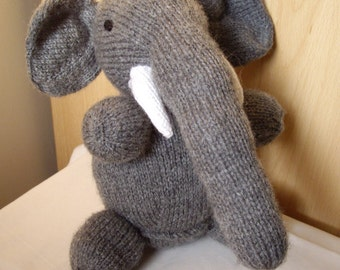 Elephant knitted soft toy