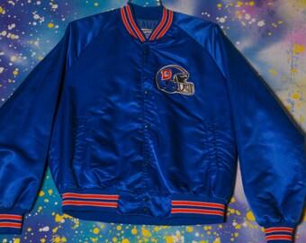 Denver BRONCOS Football Chalk Line Starter Style Jacket Size L