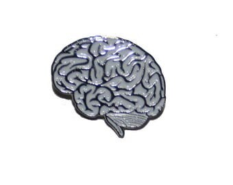 White Lateral View Brain Pin