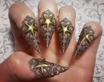 Stardust Claws // Nail Armor // Set of 5