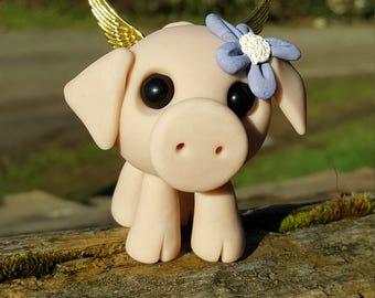Polymer clay flying pig