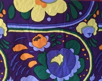 "Gorgeous Marimekko fabric.  katsuji Wakisaka Karuselli Marimekko by Suomi Finland 1973. 2 yards 12"" x 52"""