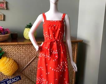 Lovely vintage bright Malia Hawaii sundress.  Modern size 4/6