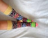 women socks, knit Turkish long Socks legwarmers, womens Knee High Socks, christmas stocking, christmas gifts for women